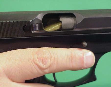 interrupción pistola semiautomática