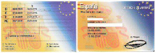 licencia de armas F