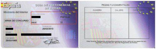 GUÍA DE PERTENENCIA ARMAS DE FUEGO