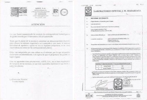 DOCUMENTACIÓN ARMERO HOMOLOGADO