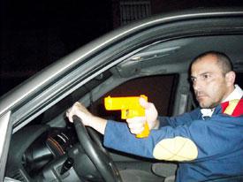 Disparando desde el interior de su vehículo