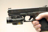 linterna pistola glock rail