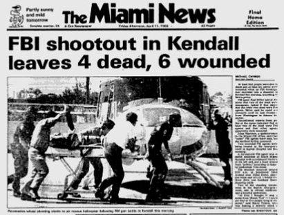portada Miami news tiroteo fbi 1986