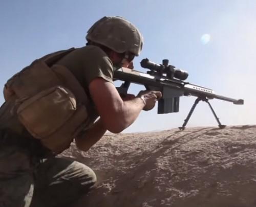 francotirador británico SAS Barrett