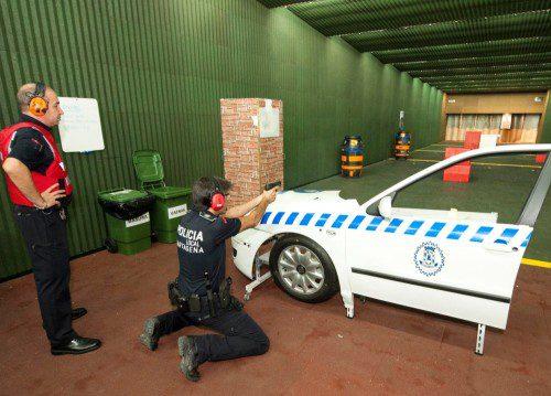 ejercicio tiro policial galería