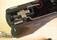 expulsor pistola glock