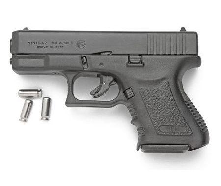 Pistola de fogueo Bruni Mini Gap, réplica de la Glock 26.
