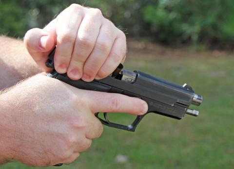 rirar de la corredera interrupción pistola rack