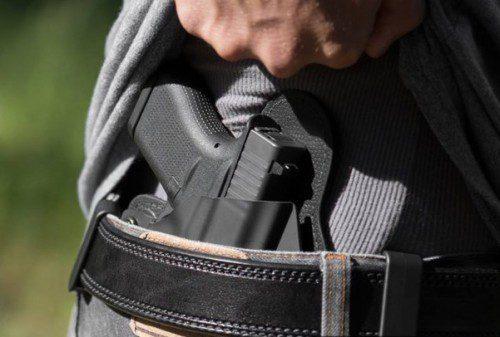 pistola oculta funda interior