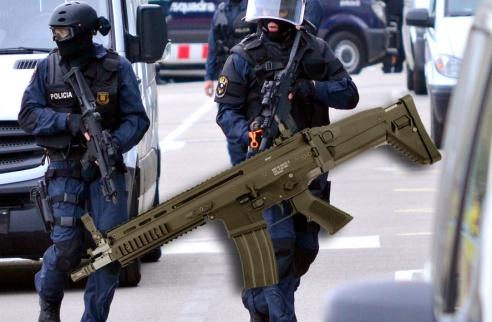Los Mossos compran el fusil SCAR