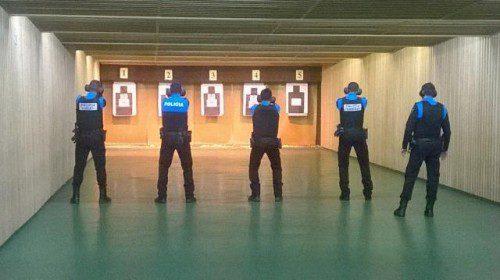 galería de tiro policía