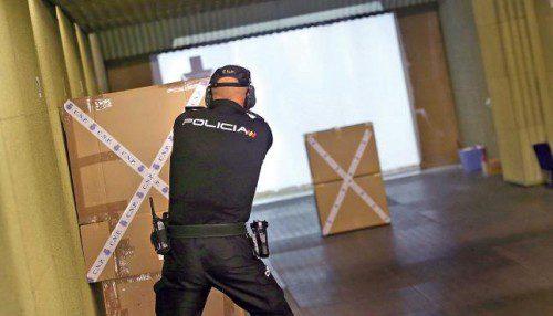 Entrenamiento policial parapeto