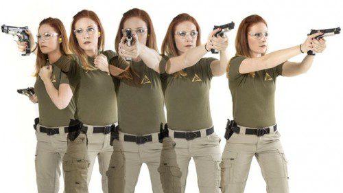 posiciones tiro mujer