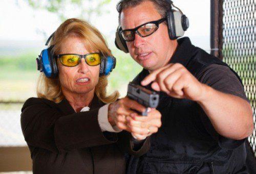 instrución tiro mujer