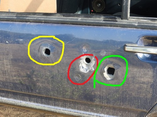 balas disparadas contra behículos
