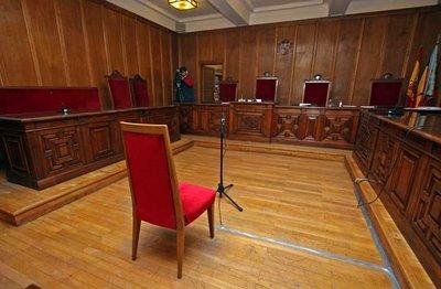 Una de las salas de la Audiencia Provincial de Alicante