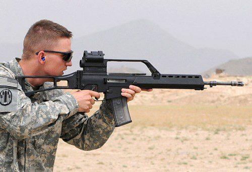 posición recogida tiro fusil