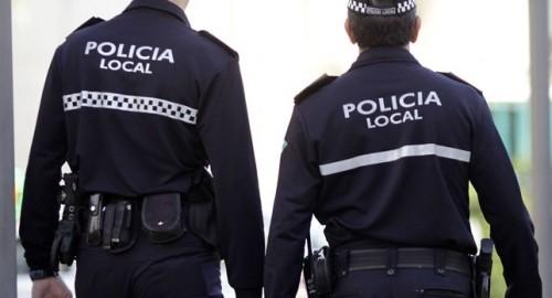 policías locales de patrulla