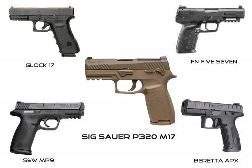 candidatas pistola ejercito americano