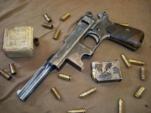 pistola bergmann de dotación ejercito español