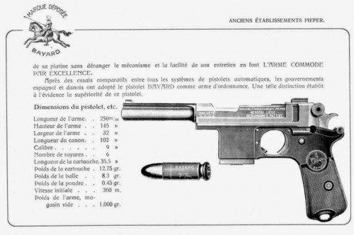 catálogo bergmann pistola de dotación del ejercito español