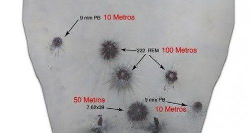 resistencia a la los proyectiles de 9 mm PB blancos metálicpos iberian targets