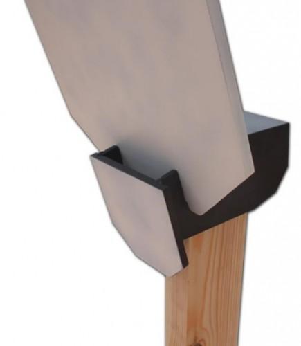 sistema de sujeción con deflector oblicuo Steel Target