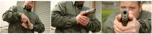 """La presentación del arma desde la posición """"Sul"""" es muy rápida"""