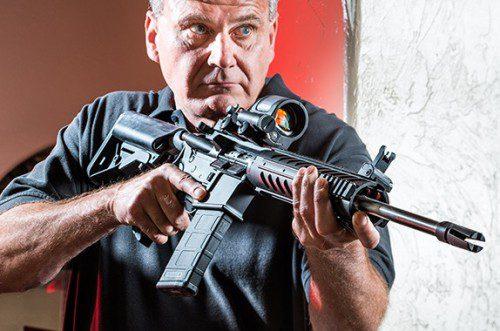 Canteos fusil empuñar arma larga