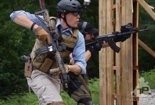 empuñar fusil cubiertas abrigos