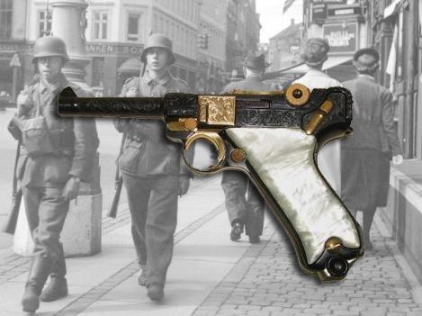 pistola luger resistencia alemana