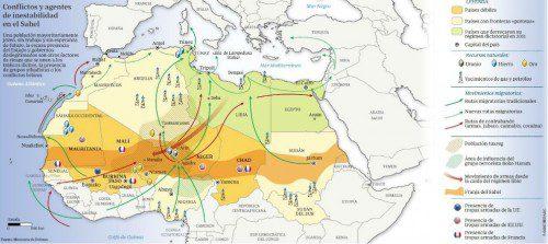 Conflictos y agentes de inestabilidad en el Sahel.