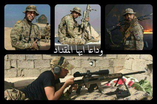 Al Mokdad al-Seady francotirador ejercito iraquí