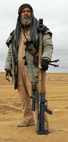 Abu Tahsin al-Salhi rifle antimaterial iraní AM50