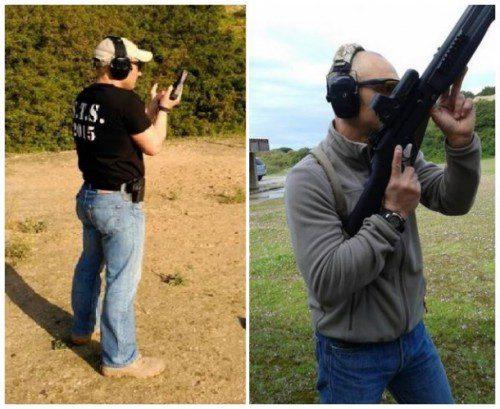 area manipulación escopeta táctica
