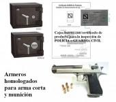 Armeros de arma corta Grado III 2012 AENOR cajas fuertes DYSS