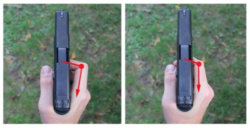 como ejercer presión sobre el disparador de un arma
