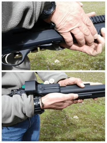 extraer cartuchos interior escopeta semiautomática