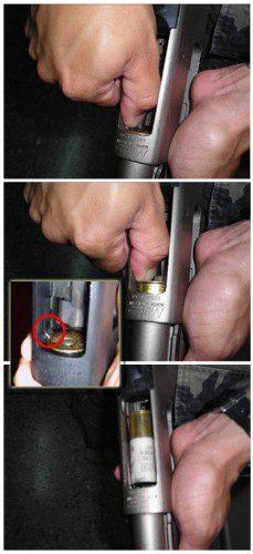 extraer cartuchos escopeta corredera