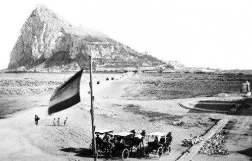 Imagen del peñón de Gibraltar en 1870