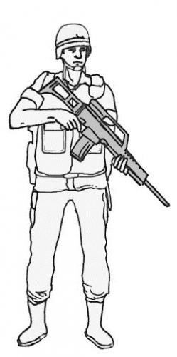 control del disparador, Posición de espera arma abajo