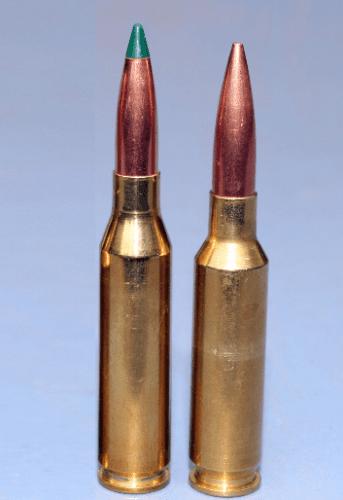 Izquierda 260 Remington, derecha 6.5mm Creedmoor