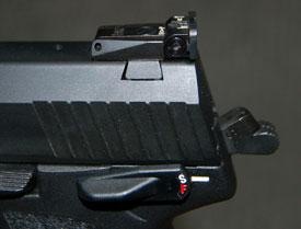 aleta del seguro manual de la pistola pistola H&K USP .45 Tactical