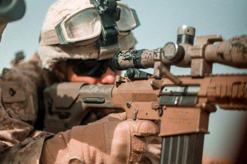 fusil semiautomático de francotirador semiautomático M110.