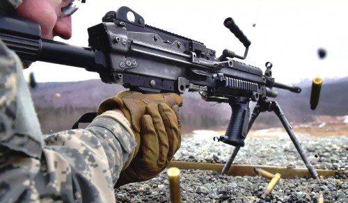 Ametralladora Ligera, 5,56 mm, M249.