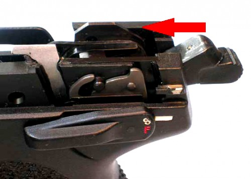 seguro automático de acerrojamiento incompleto pistola USP
