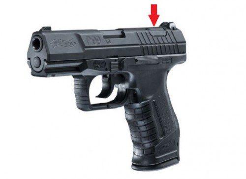pulsador de desamartillado de la pistola Walther P99